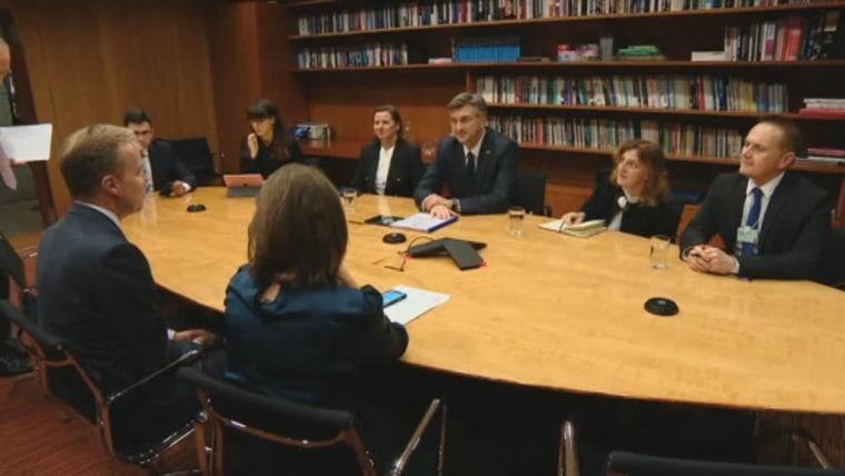 Prime Minister Andrej Plenković in Geneva (Photo: HRT)