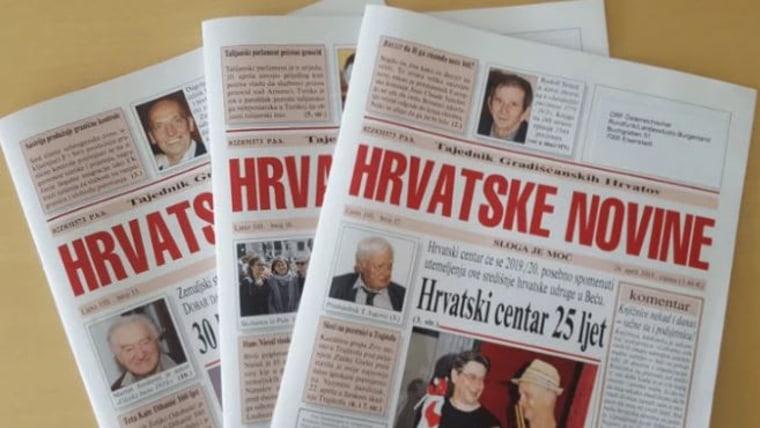 Naslovnice tjednika ''Hrvatske novine'' ( Foto: screenshot/volksgruppen.orf)