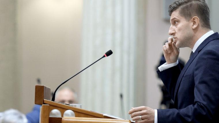 Finanzminister Zdravko Marić im Parlament (Foto: Patrik Macek / PIXSELL)
