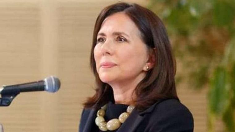 Karen Longarić Rodríguez, ministra de Relaciones Exteriores de Bolivia (Foto: Comunidad Croata de La Paz)
