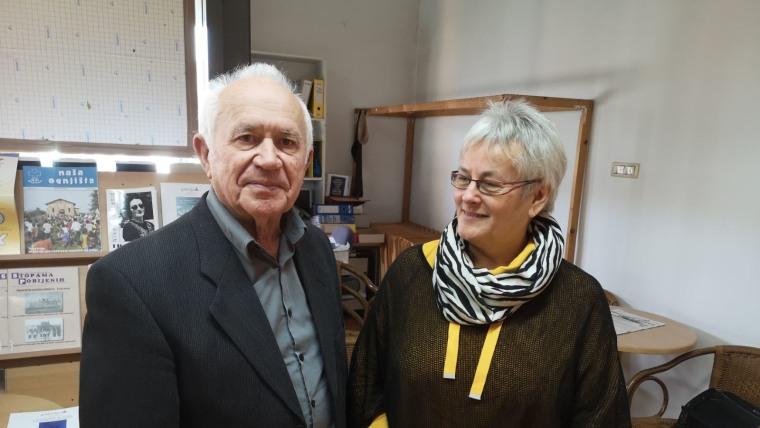 Književnica iz Cogrštofa Ana Šoretić i akademik Nikola Benčić (Foto: Slavica Štefić)