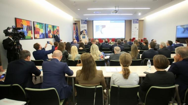 Otvaranje ovogodišnje konferencije  MEETING G2.5 - Gradimo poslovne mostove. (Foto: Matija Habljak/ Pixsell)