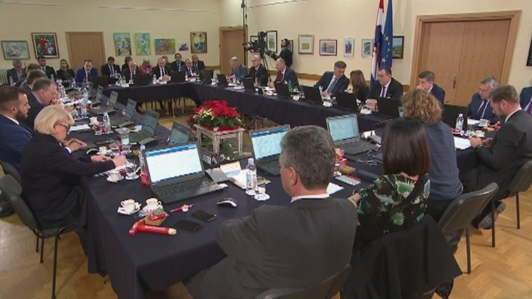 Today's government cabinet session in Krapina (Photo: HRT)