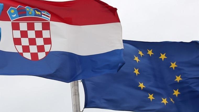 Bandreas de Croacia y de la Unión Europea (Foto:  Borna Filic / PIXSELL)