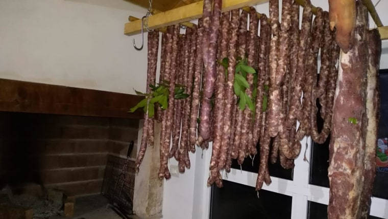 Istrian sausages drying (Photo: Voice of Croatia/HRT)