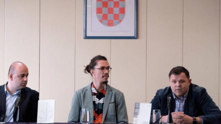 Milan Puh na predstavljanju knjige u Hrvatskoj matici iseljenika. (Foto: HMI/ screenshot)