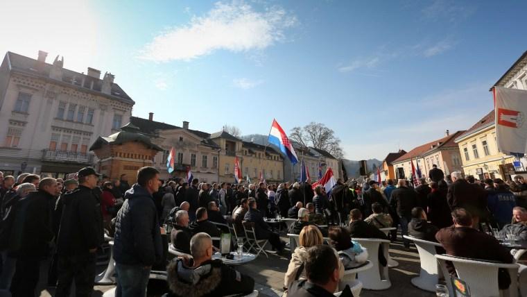 Protesta en Samobor (Foto: Emica Elvedji/PIXSELL)