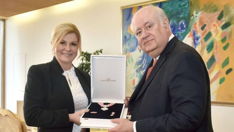 Predsjednica Kolinda Grabar-Kitarović i veleposlanik Paulo Roberto Tarrisse da Fontoura (Foto: Glas Hrvatske)