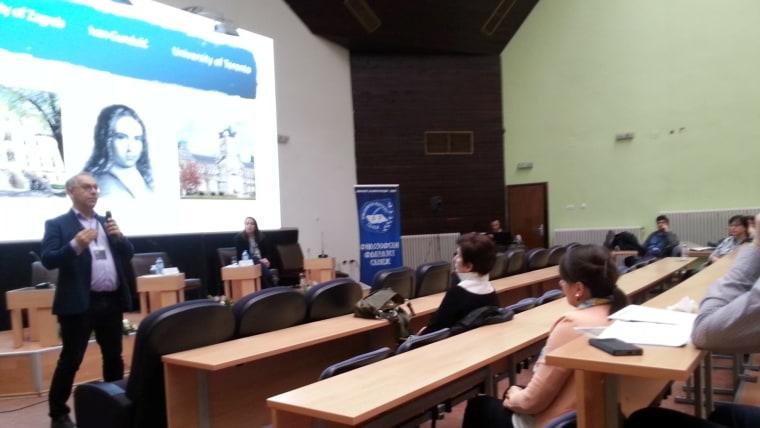 Predavanje dr. sc. Davora Piskača na Filozofskom fakultetu u Skoplju. (Foto:  Igor Pop Trajkov)