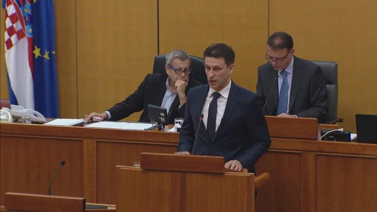 Der Abgeordnete der Parteien MOST Božo Petrov (Foto: HRT)