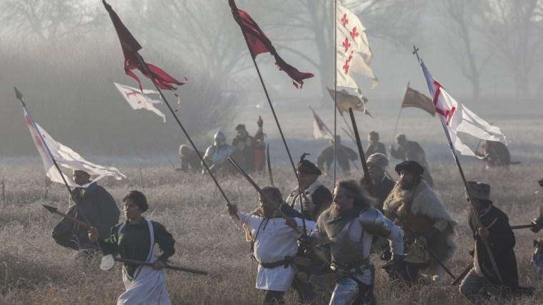 Escena de la batalla contra los otomanos (Foto: HRT)