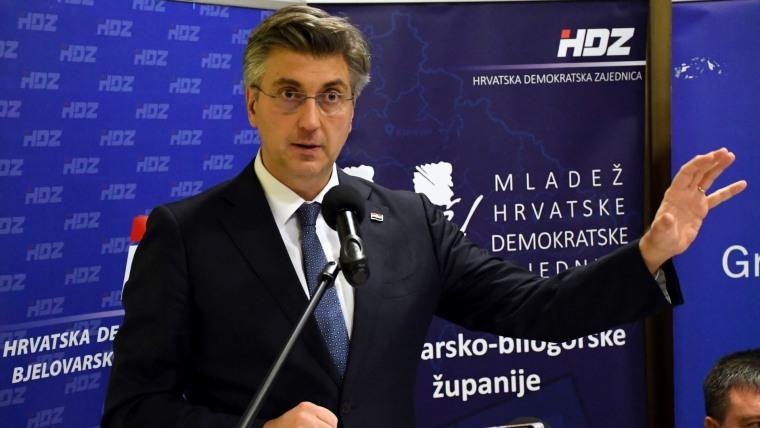 HDZ-Parteivorsitzender Andrej Plenković (Foto: Damir Spehar / PIXSELL)