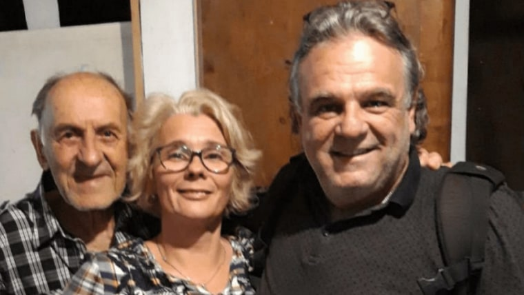 Franck (desno) s polusestrom Lindom i rođakom (Foto: screenshot/slobodnadalmacija.hr)