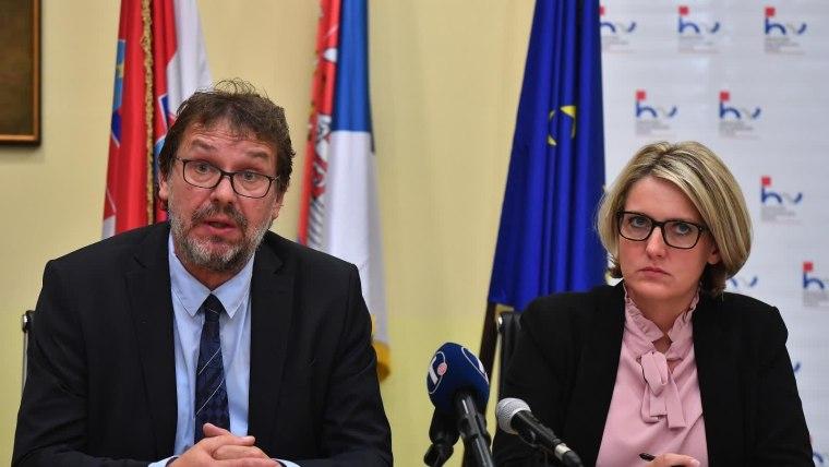 Jasna Vojnić i Tomislav Žigmanov. (Foto: Srđan Ilić/ Pixsell)