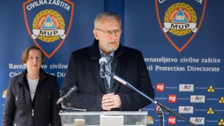Ministro de Asuntos Internos, Davor Božinović (Foto: HRT)