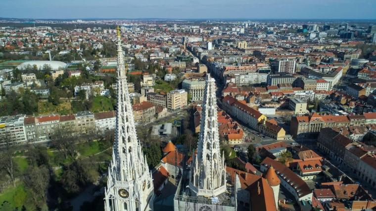 Srušeni krov Zagrebačke katedrale. (Foto: Pixsell)