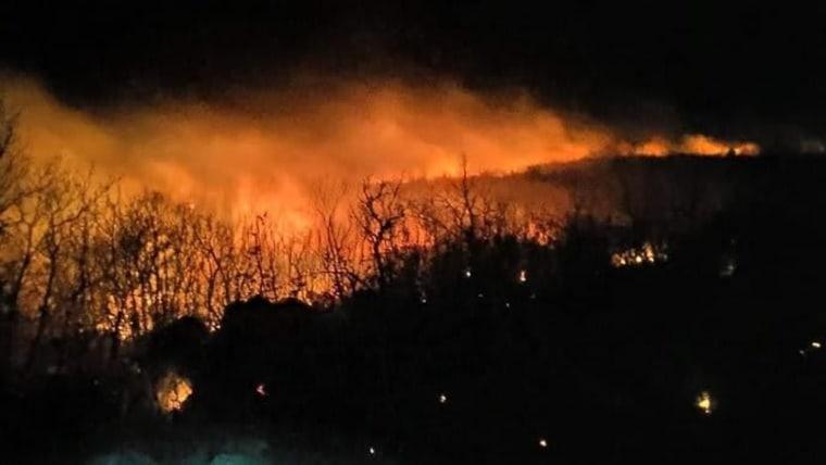 Buschfeuer auf der Insel Hvar (Foto: Facebook, Vatrogasci - Oni su naši heroji)