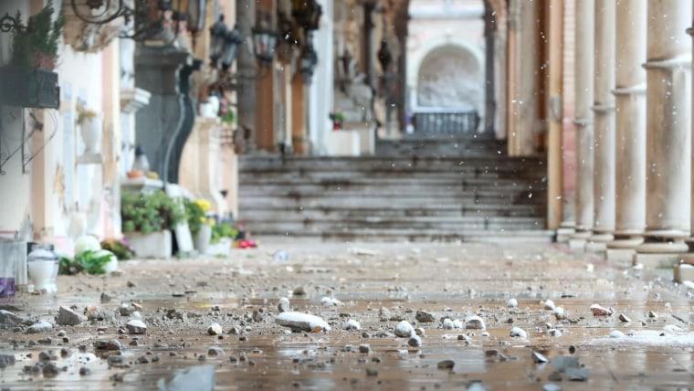 Schäden nach dem Erdbeben in der Zagreber Innenstadt (Foto: Sanjin Strukic/PIXSELL)