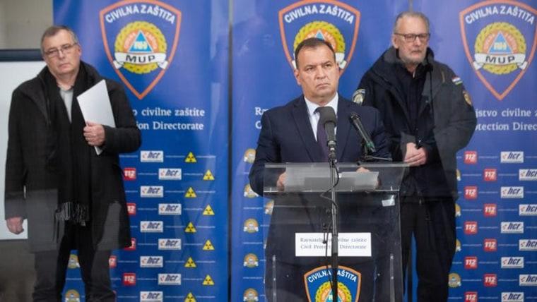 Der nationale Zivilschutz bei der Pressekonferenz (Foto: Daniel KASAP/HINA/POOL/PIXSELL)