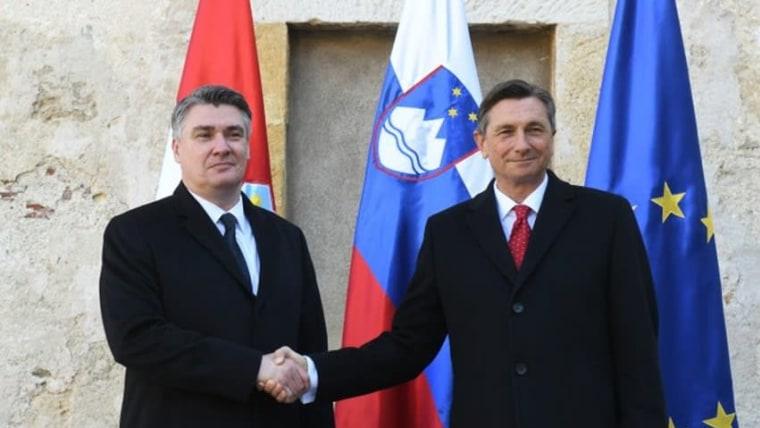 Presidentes de Croacia y de Eslovenia (Foto: Oficina Presidencial)