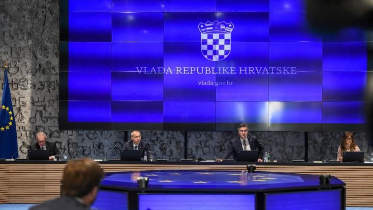 Die heutige Regierungssitzung (Foto: Josip Regović/PIXSELL)