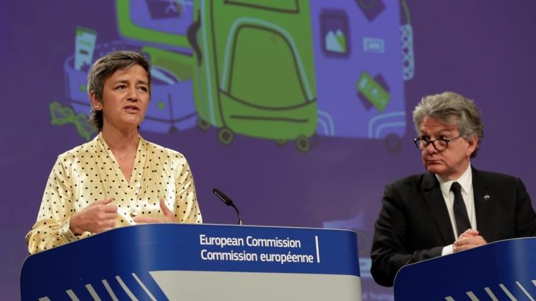 European Commission Vice-president Margrethe Vestager (Photo: Olivier Hoslet/Pool via REUTERS)