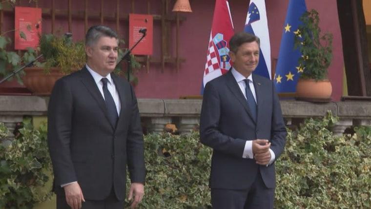 Zoran Milanović (L) und Porut Pahor (R) (Foto: Sanjin Strukic/PIXSELL)