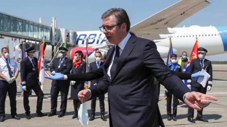 Der serbische Präsident Aleksandar Vučić (Foto: Marko Djurica/REUTERS)
