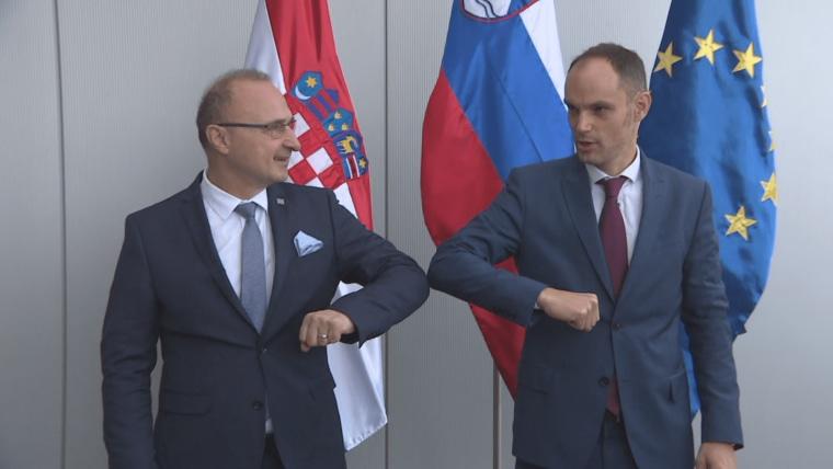 Minister of Foreign and European Affairs Gordan Grlić Radman and his Slovenian counterpart Anže Logar (Photo: HRT)