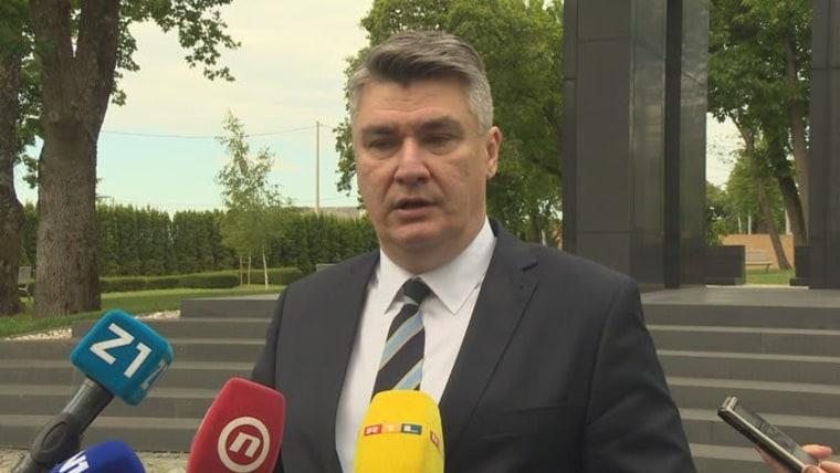 Präsident Zoran Milanović (Foto:HRT)