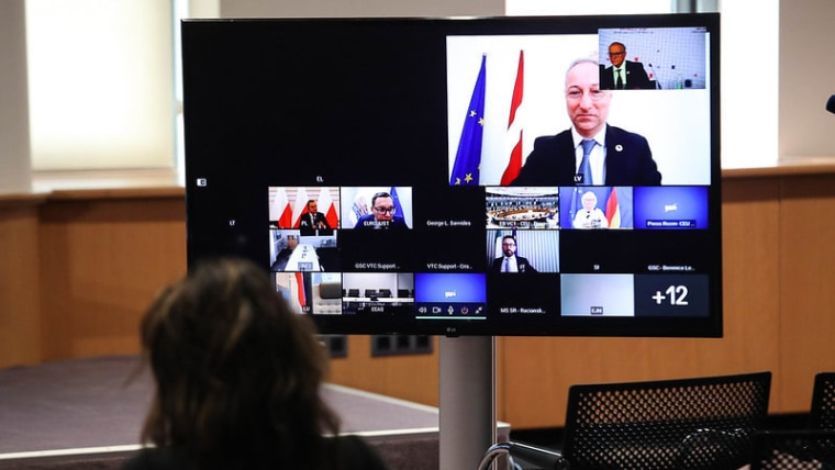 Videokonferenz der Justizminister (Foto: eu2020.hr)