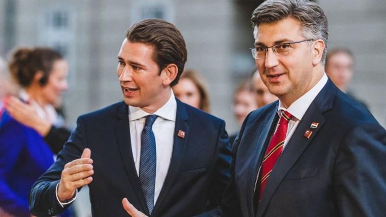 Premierminister Sebastian Kurz (L.) und Andrej Plenković  (Foto: EXPA/PIXSELL)