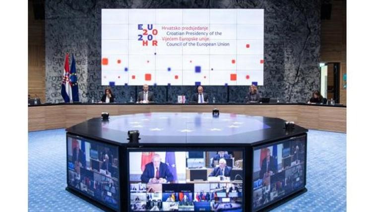 Die kroatische EU-Ratspräsidentschaft (Foto: EU2020HR)