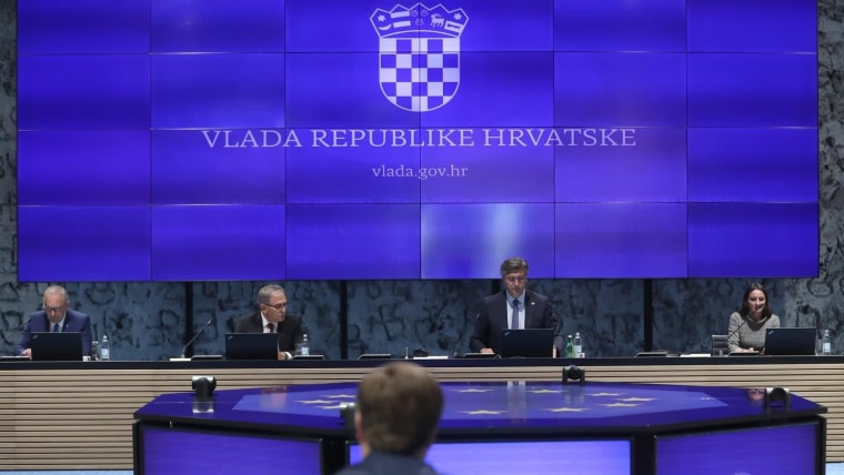 sesión de Gabinete (Foto: Zeljko Lukunic/PIXSELL)