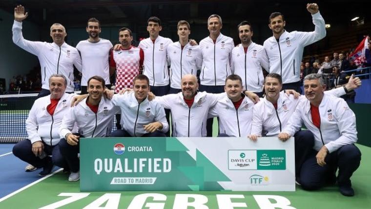 Die kroatische Davis-Cup Mannschaft (Foto: Goran Stanzl/PIXSELL)