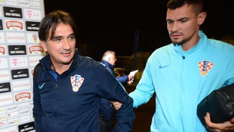 Fußballnationaltrainer Zlatko Dalić und Dejan Lovren (Foto: Marko Prpic/PIXSELL)