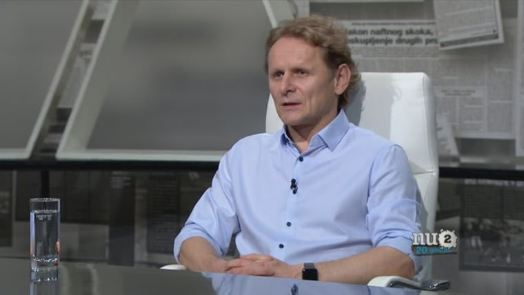 Molecular biologist Ivan Đikić appearing on the program Nedjeljom u 2 on HTV (Photo: HRT)
