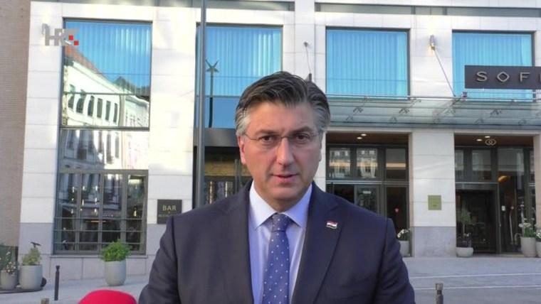 Primer ministro Andrej Plenković en Bruselas (Foto: HRT)