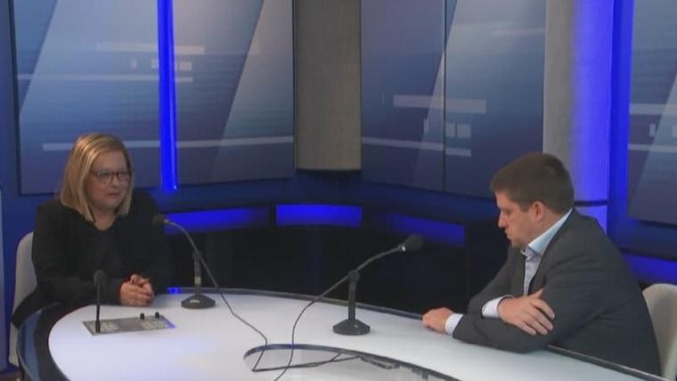 Ministro Butković en la Radio Croata (Foto: HRT)
