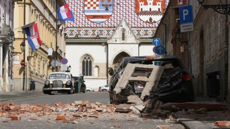 Zagreb's upper city following the earthquake (Archive Photo: Ministry of Construction and Physical Planning)