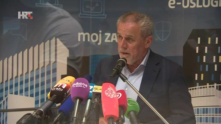 Zagreb Mayor Milan Bandić (Photo: HRT)