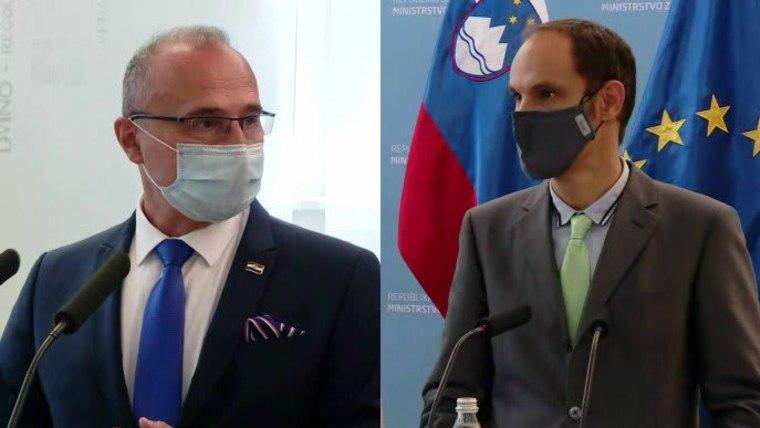 Ministros de Exteriores de Croacia y de Eslovenia (Foto: HRT)