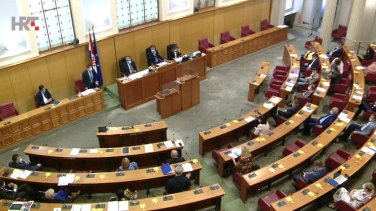 Die heutige Parlamentssitzung (Foto: HRT)