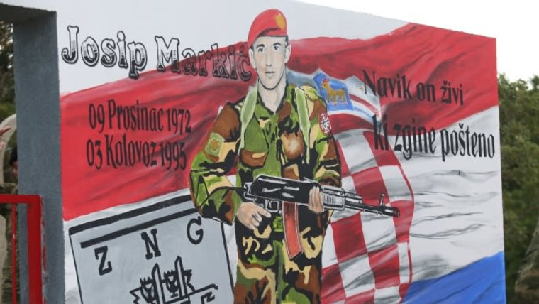 A mural depicting Josip Markić (Photo: Dusko Jaramaz/PIXSELL)