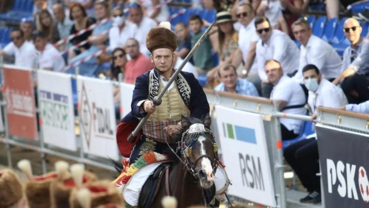 The winner of the 305th Sinj Alka, Alkar Knight Ivo Zorica (Photo: Ivo Cagalj/PIXSELL)