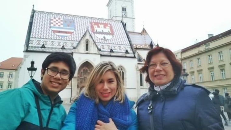 Carmela Herrera u Zagrebu s kćerkom Karen i sinom Adrianom (foto: osobna arhiva/ustupljena fotografija)