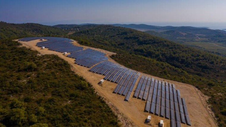 The new solar power plant on Vis, the largest in the country (Photo: HEP)