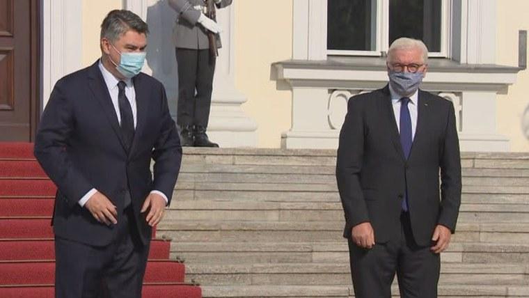 Zoran Milanović und Frank-Walter Steinmeier in Berlin (Foto: HRT)