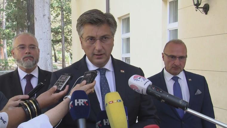 Premier Andrej Plenković in Split (Foto: HRT)