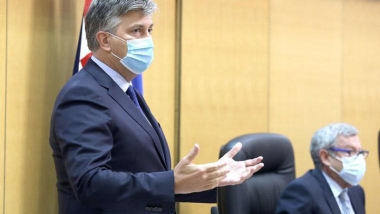 Andrej Plenković im kroatischen Parlament (Foto: Marko Lukunic/PIXSELL)